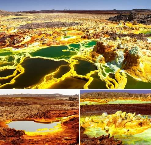 Пейзажи впадины Данакил (Эфиопия)